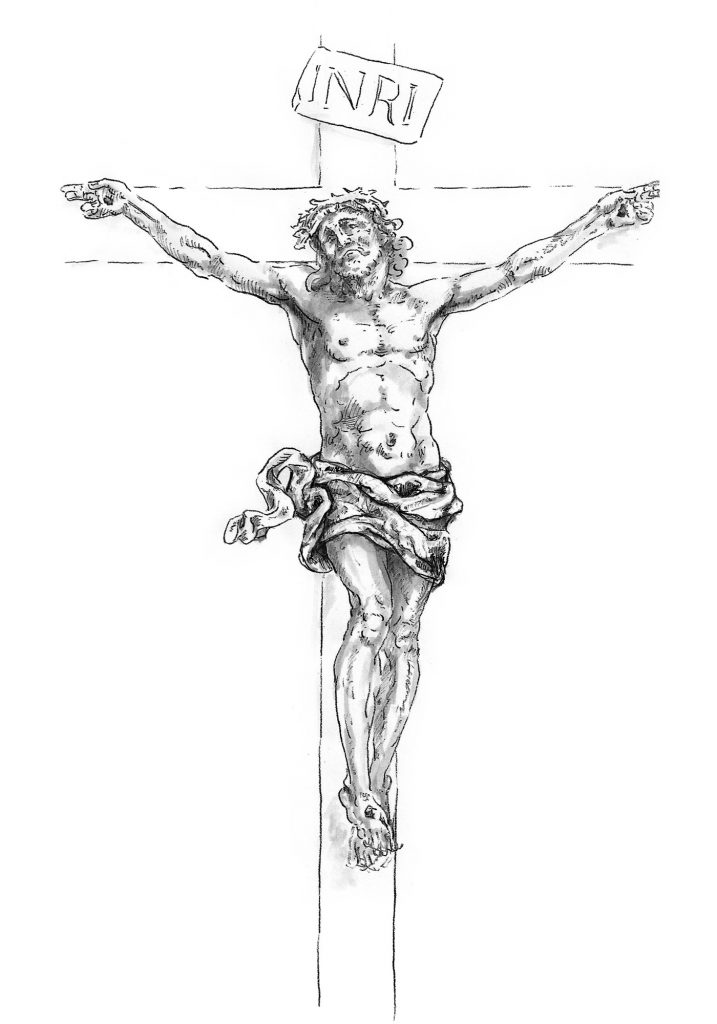 Crucifix, St. Francis de Sales Catholic Church in Purcellville, Virginia (USA). Liturgical Design: Gardiner Hall Associates