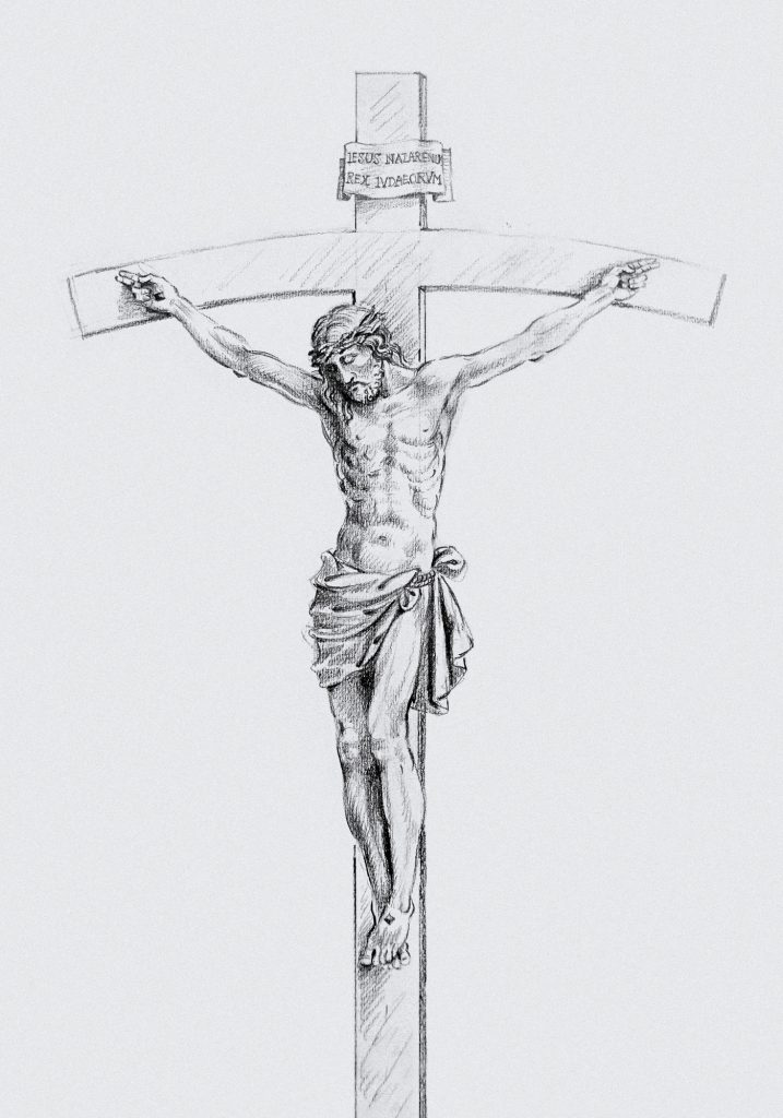 Crucifix, Sacred Hearts Church in Cardington, Ohio (USA). Liturgical Consultant: William Heyer Architect