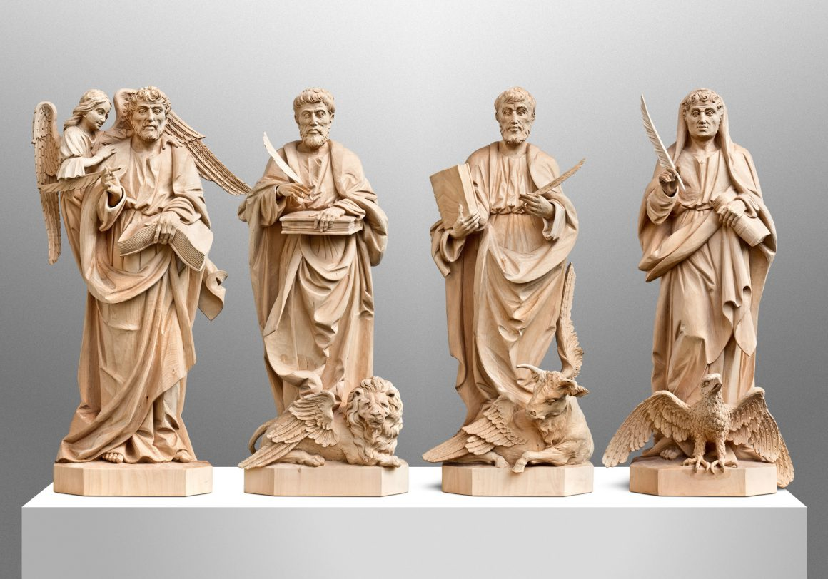The Four Evangelists, All Saints Priory in Catonsville, Maryland (USA). Liturgical Design: Gardiner Hall Associates