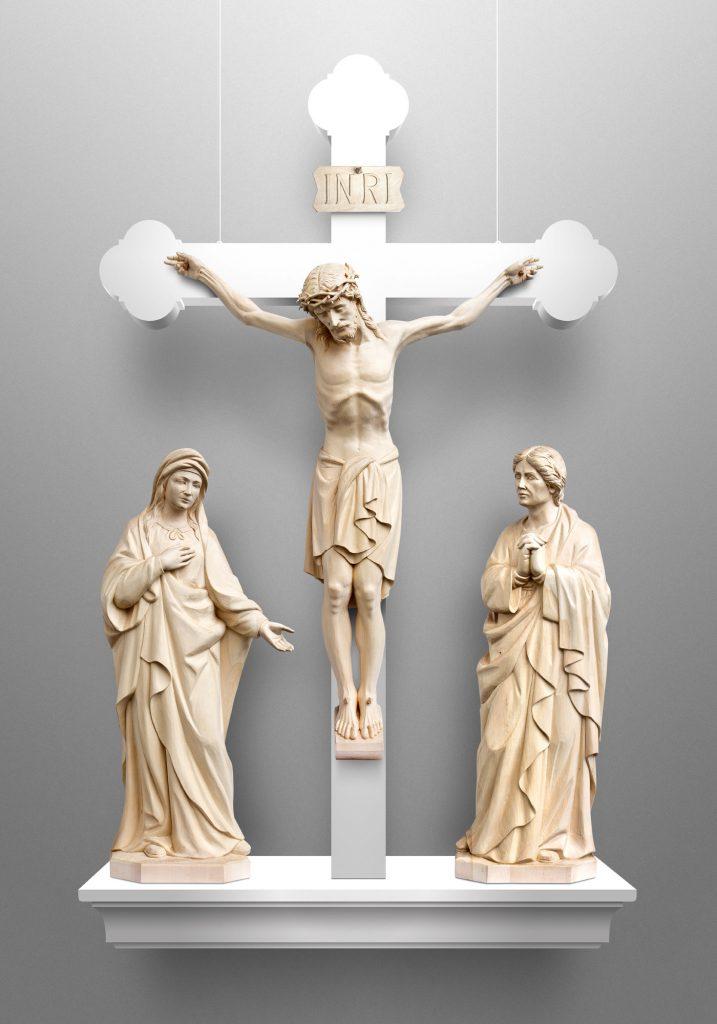 Crucifixion scene, St. Pius X Catholic Church in Granger, Indiana (USA). Liturgical Consultant: William Heyer Architect