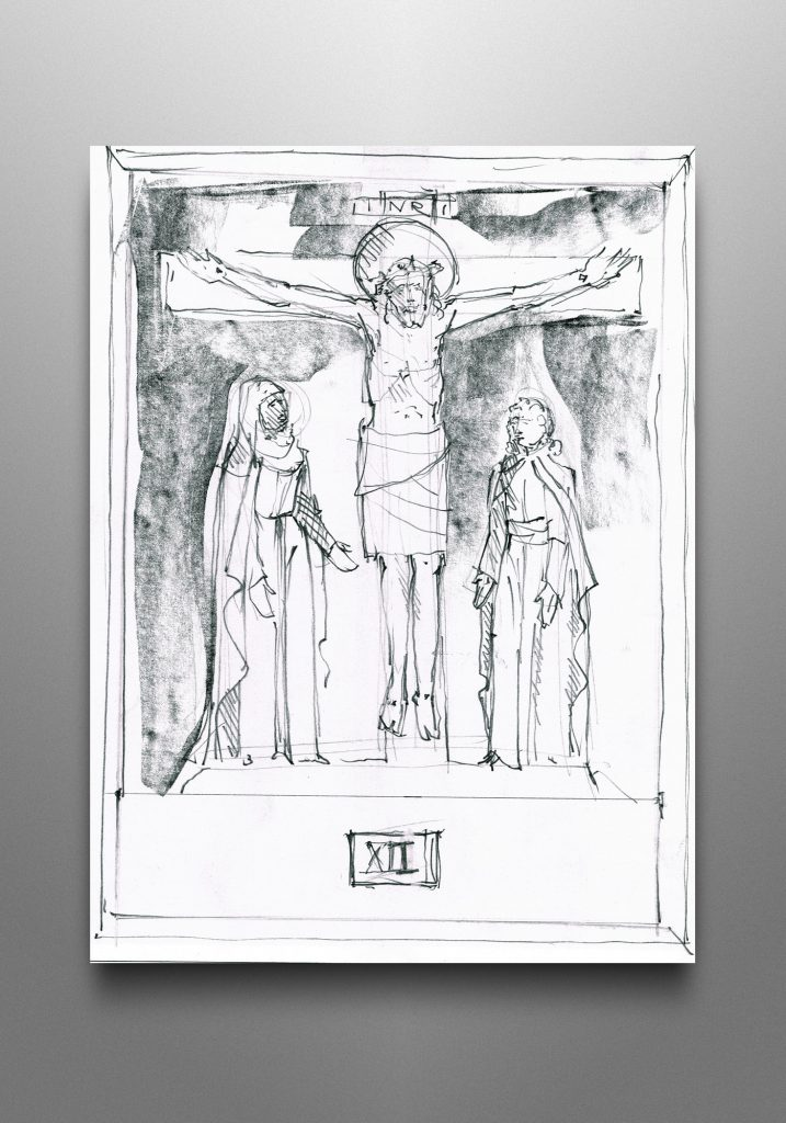 Scriptural Stations of the Cross, Trinity Lutheran Church in Elkhart, Indiana (USA). Liturgical consultant: Paul Barribeau, Groth Design Group