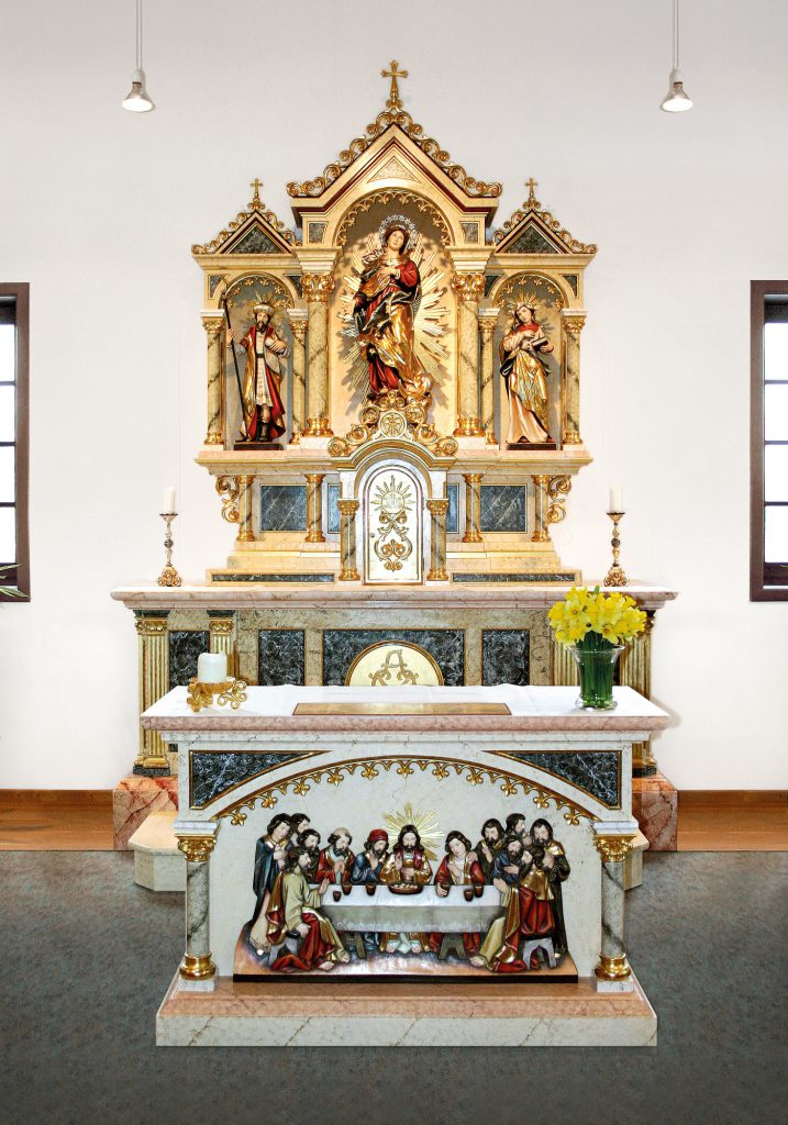 church interior st andreas catholic chapel in cloppenburg germany albl oberammergau. Black Bedroom Furniture Sets. Home Design Ideas