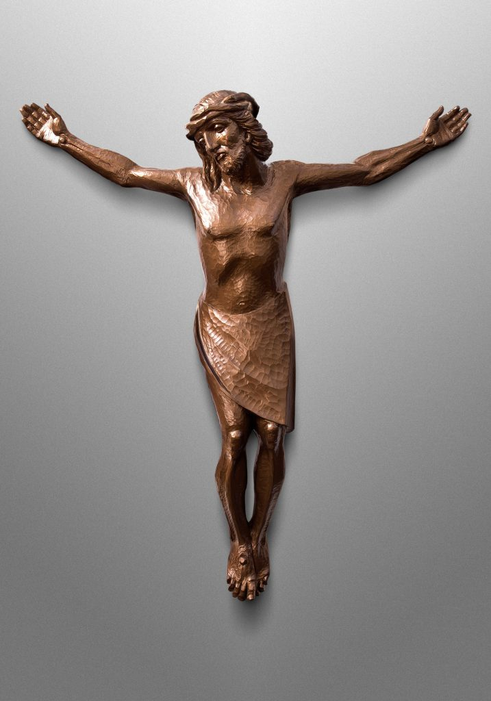 Crucifix with St. Mary and St. Joseph, Church of the Nativity in Timonium, Maryland (USA). Liturgical Design: Gardiner Hall Associates