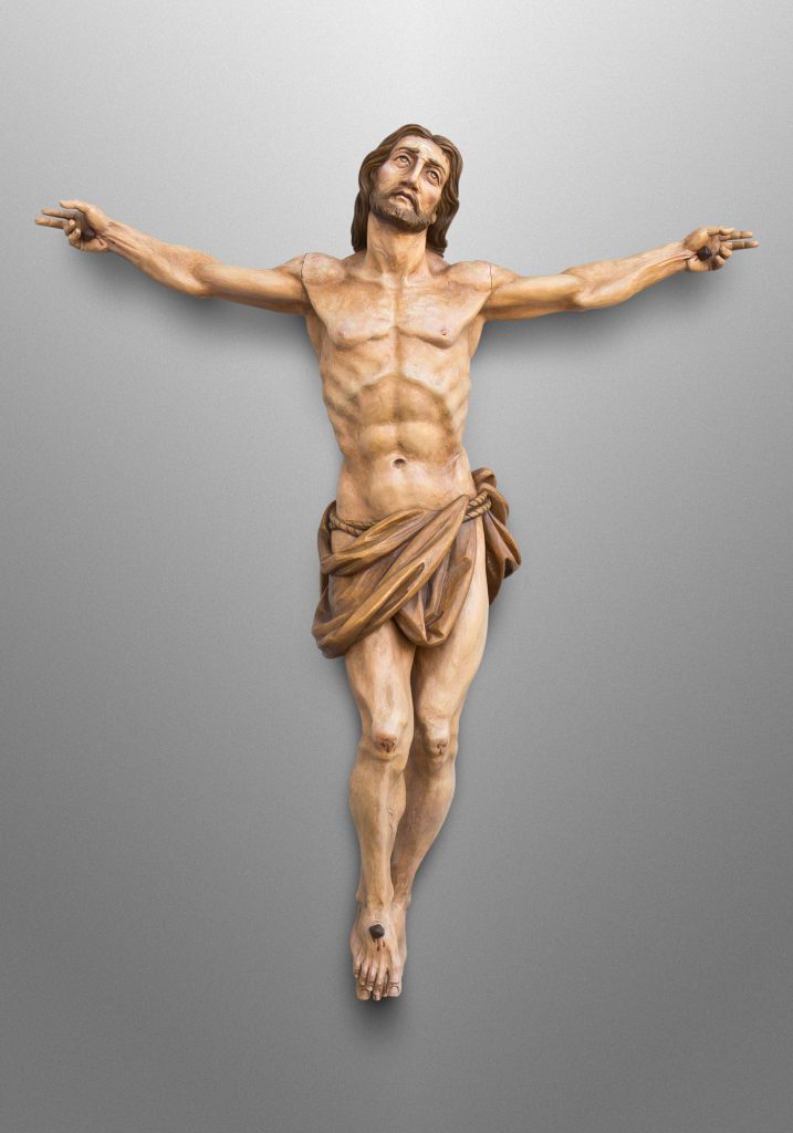 Crucifix, St. Olaf Catholic Church in Williamsburg, Virginia (USA). Liturgical Design: Sacred Spaces, LLC