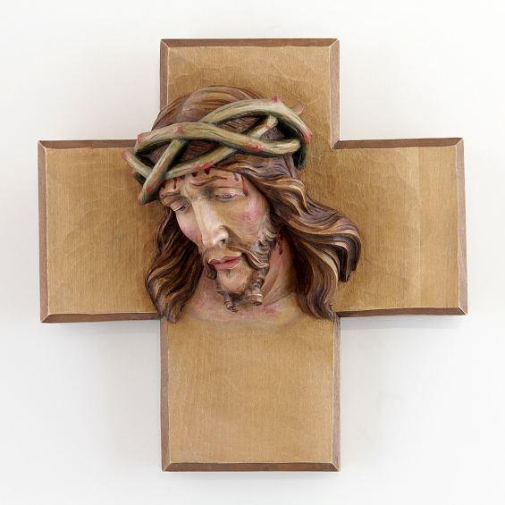 Christuskopf mit Kreuz