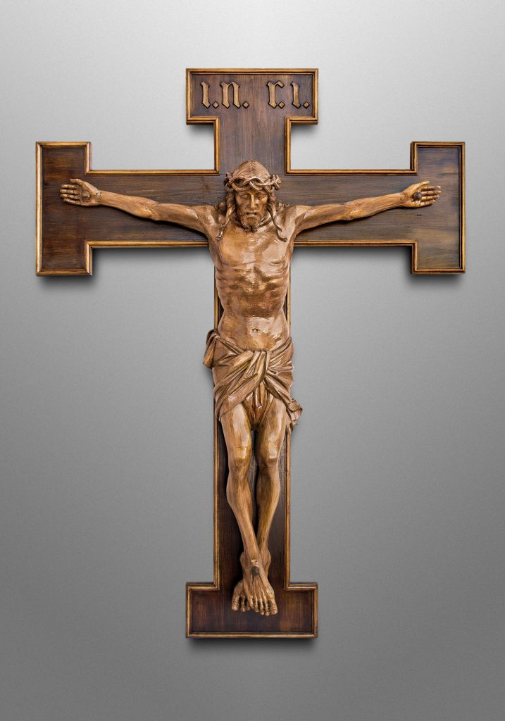 Crucifix, Saint Bartholomew Catholic Church in Bethesda, Maryland (USA). Liturgical Design: Gardiner Hall Associates