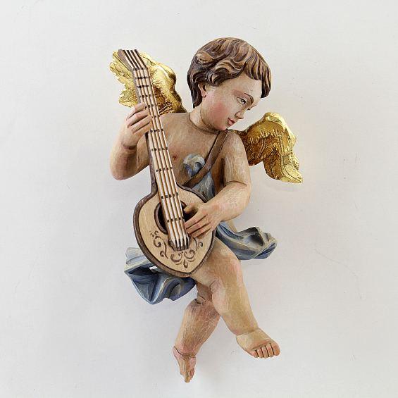 Rococo cherub with mandolin (right)