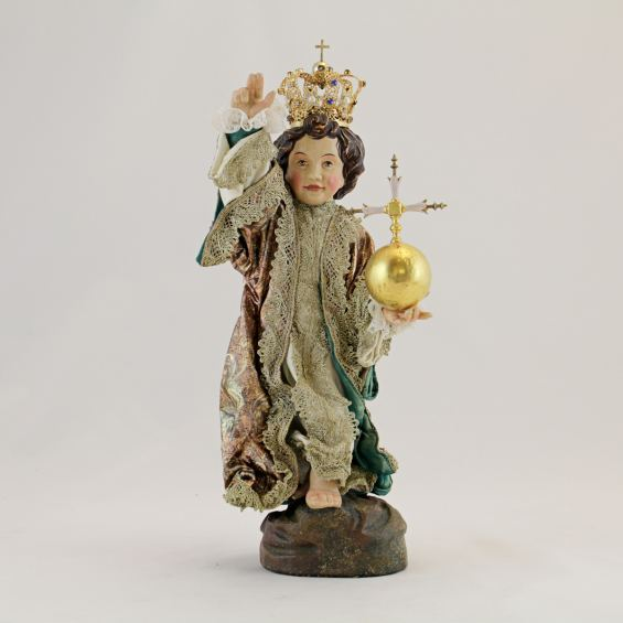 Infant Jesus from Augsburg with silk