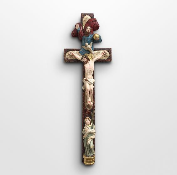 Cross with Holy Trinity and Mary