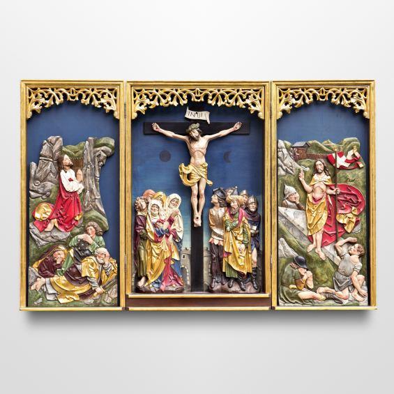 Triptych altar according to Tilman Riemenschneider