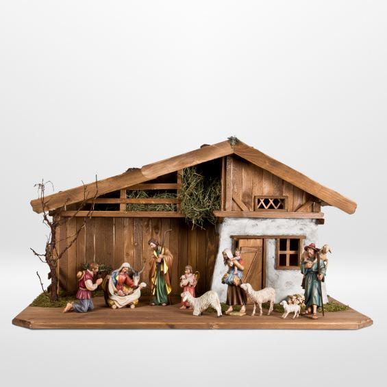Nativity set with shepherds