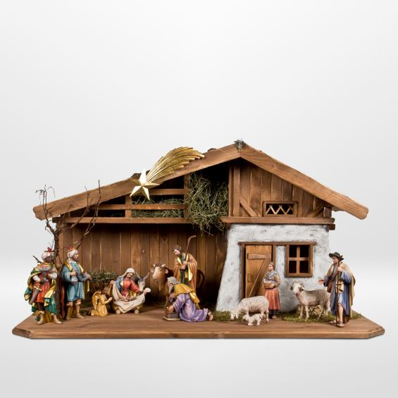Stable 1 with shepherds and the three wise men