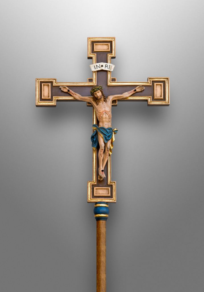 Processional cross, St. Andrew Apostle Catholic Church in Silver Spring, Maryland (USA)