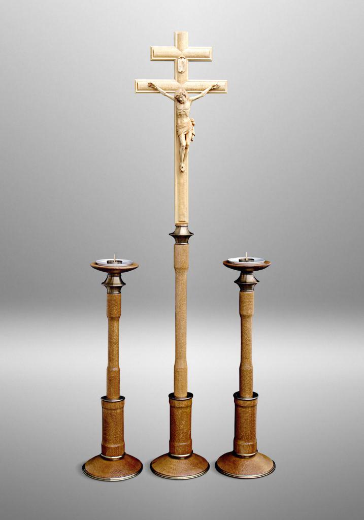 Metropolitan processional cross, Archdiocese of Anchorage, Alaska (USA). Liturgical design: Rolf Rohn