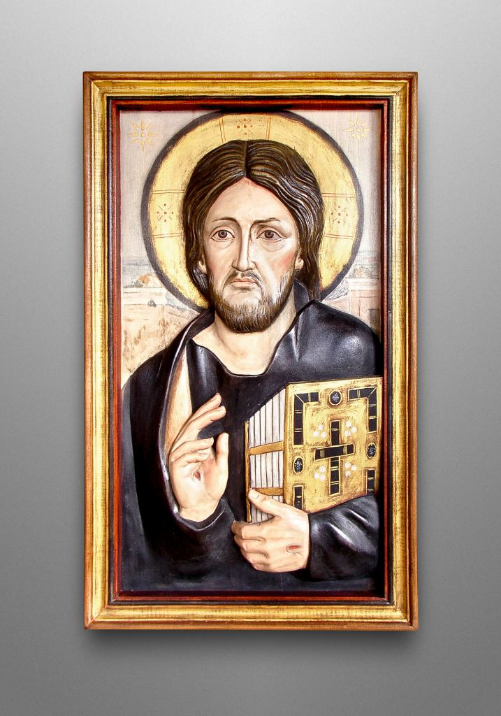 The Christ Pantocrator, original painting is in the St. Catherine's Monastery at Sinai