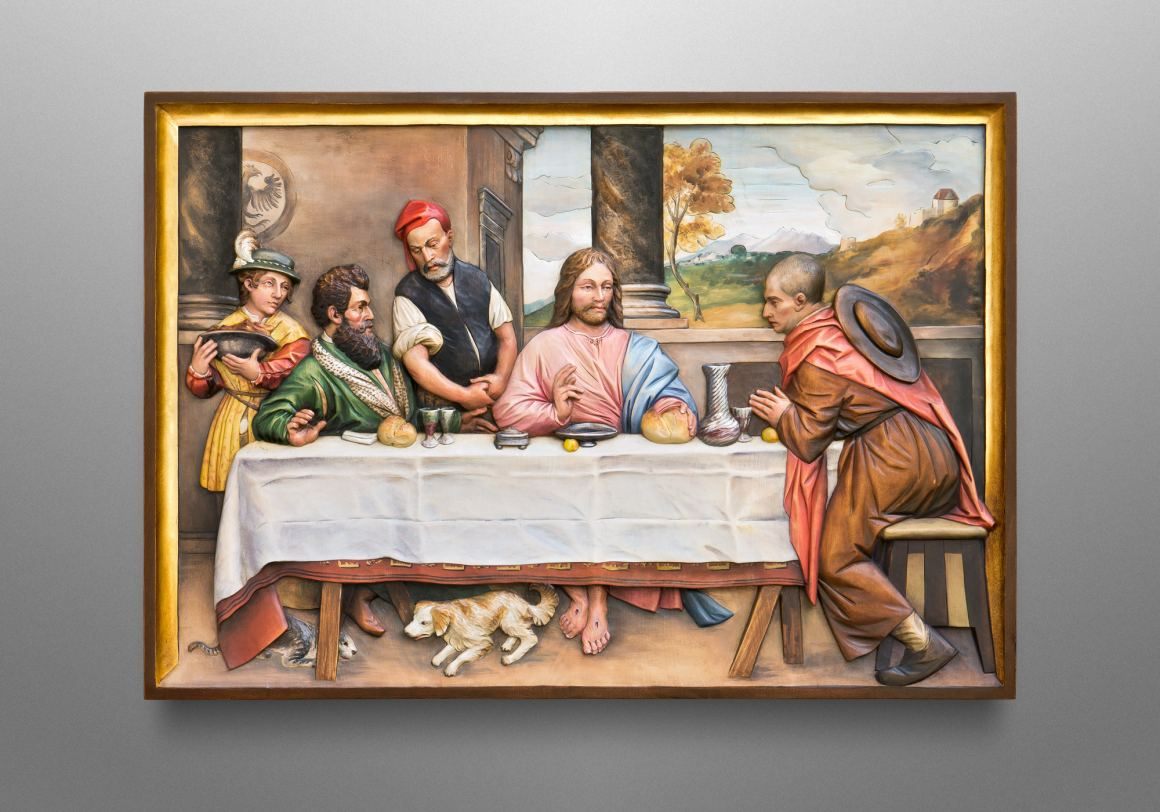 Supper at Emmaus, original painting by Titian (Tiziano Vecellio, 1488–1576)