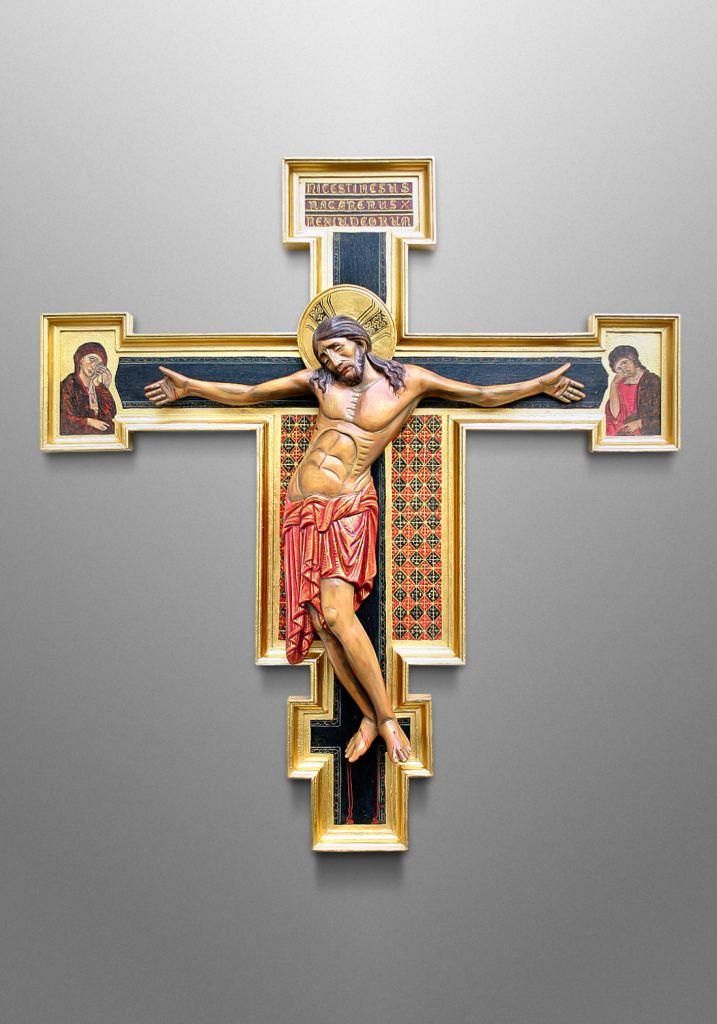 Italian inspired Cimabue Crucifix.