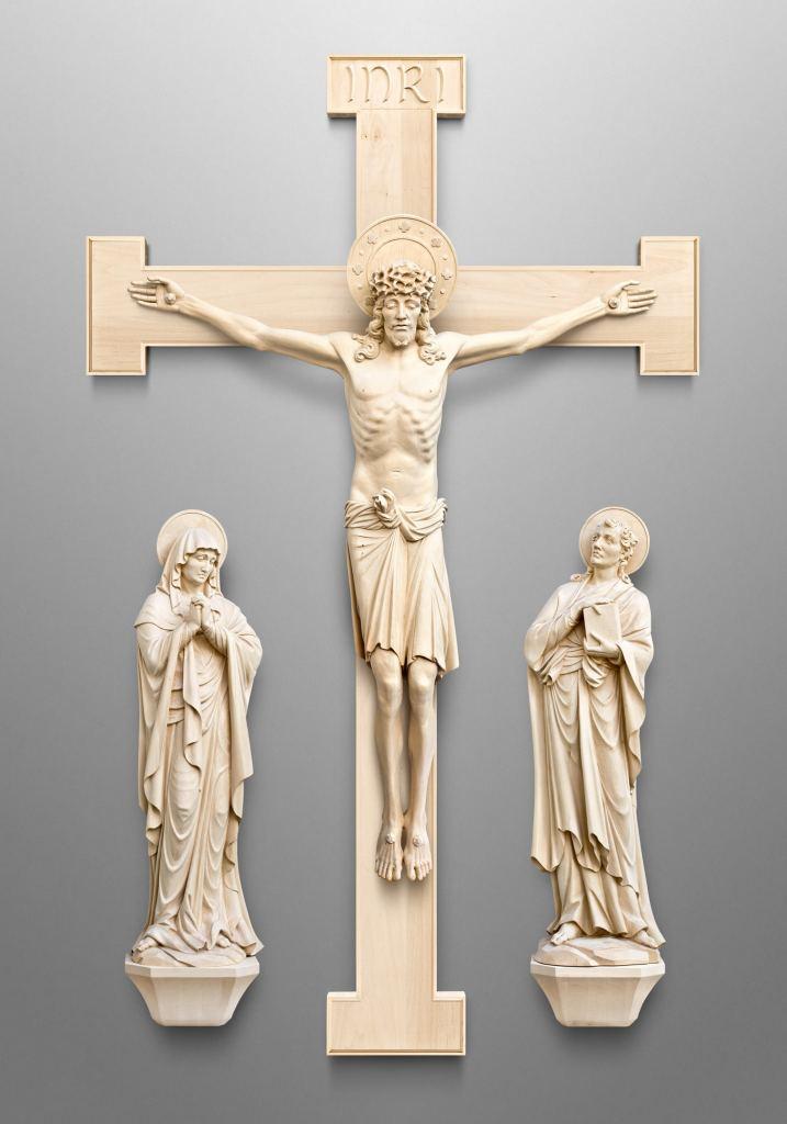 Kreuzigungsgruppe, Kirche in Encinitas, Kalifornien (USA)