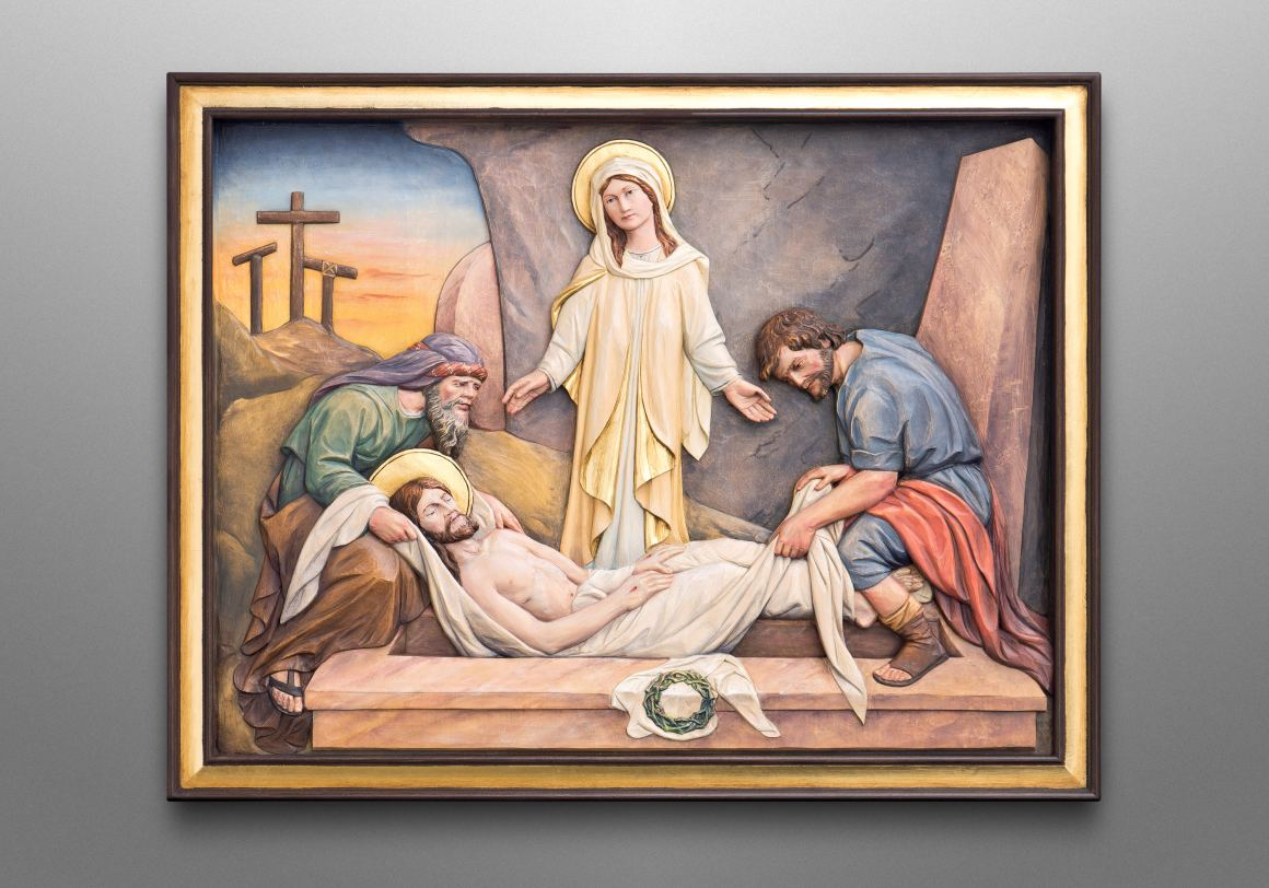 The seven sorrows of Mary, Mother of God Catholic Church in Oswego, Kansas (USA)