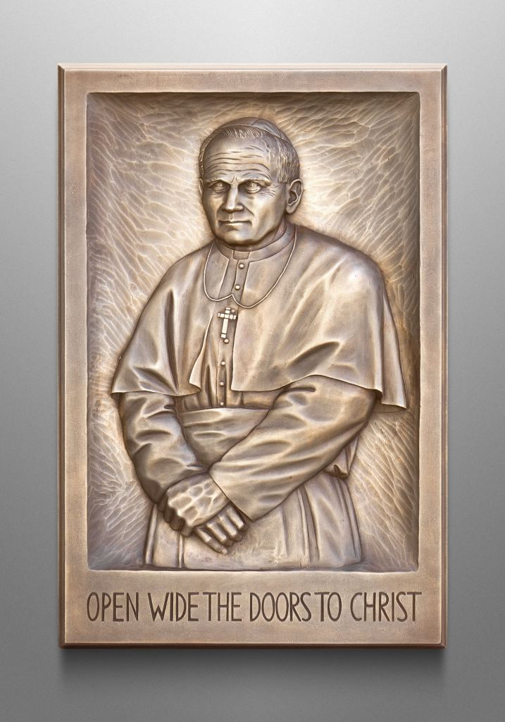 Pope John Paul II, St. Mary's Catholic Center, College Station, TX. Liturgical consultant: Michael Raia, Studio io