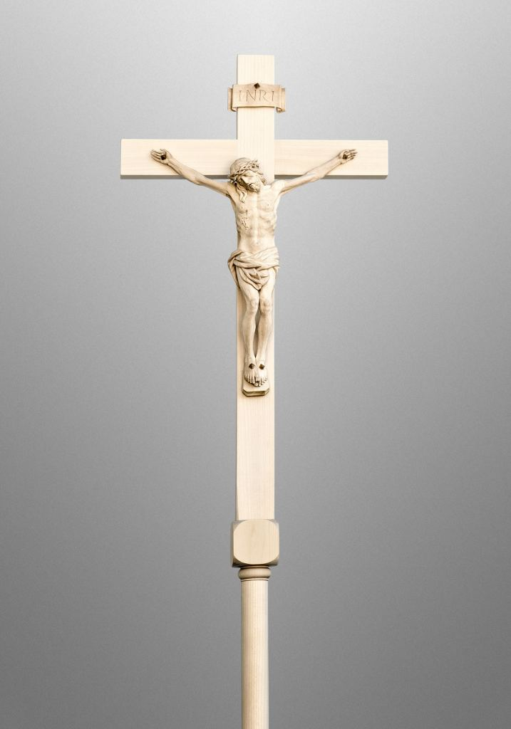 Processional cross and candles, Catholic Church, USA