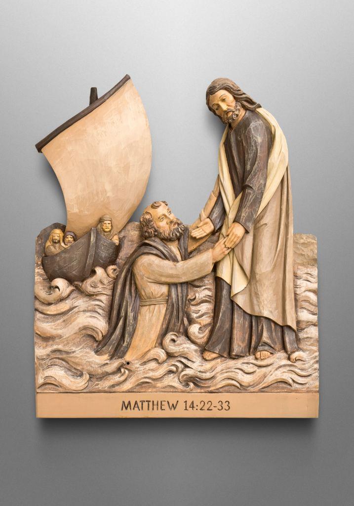 Jesus geht auf dem Wasser (Matthäus 14, 22-33), Kirche in Riverview, Florida (USA)
