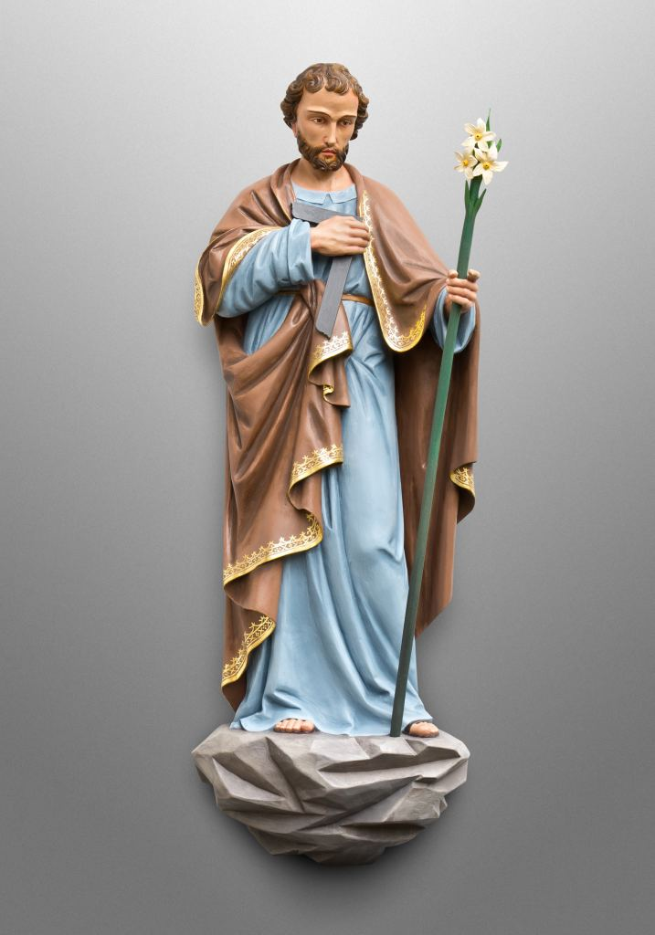 St. Joseph the carpenter, Our Lady of Lourdes Catholic Church in Denver, CO (USA). Collaboration with Inspired Artisans Ltd.