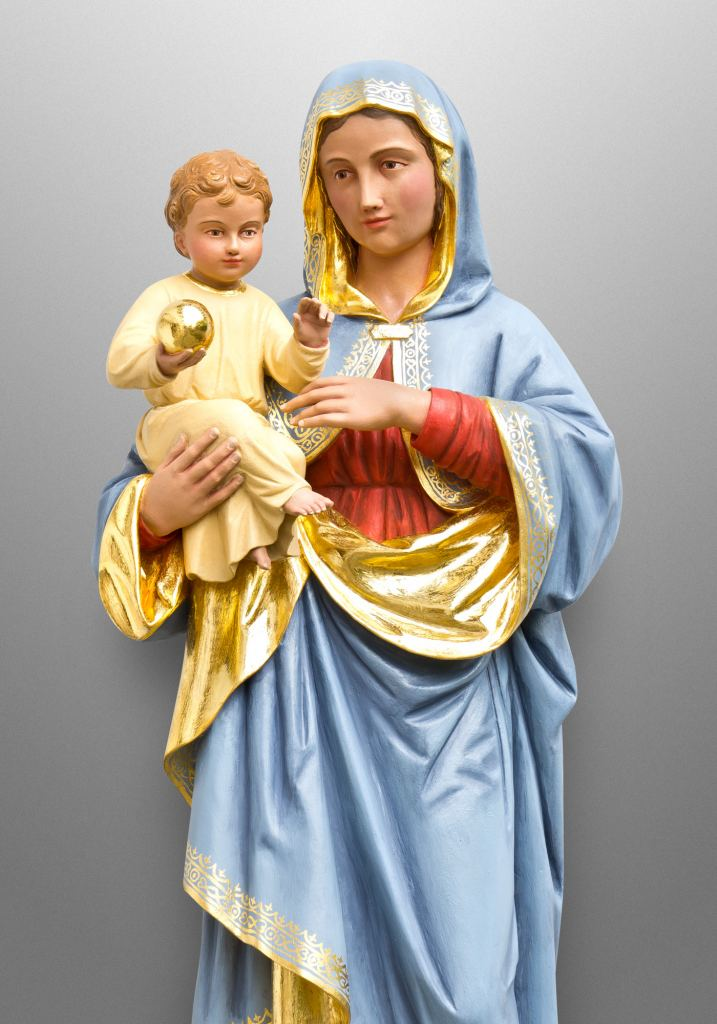 St. Mary with child, Our Lady of Lourdes Catholic Church in Denver, CO (USA). Collaboration with Inspired Artisans Ltd.
