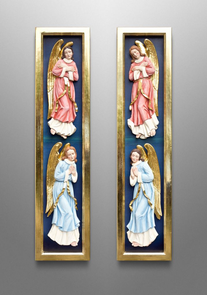 Relief carvings for a Reredos for St. Francis Catholic Church in Grapevine, Texas (USA); Ecclesiastical Design: Gardiner Hall Associates