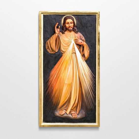 Relief carving of Divine Mercy Jesus