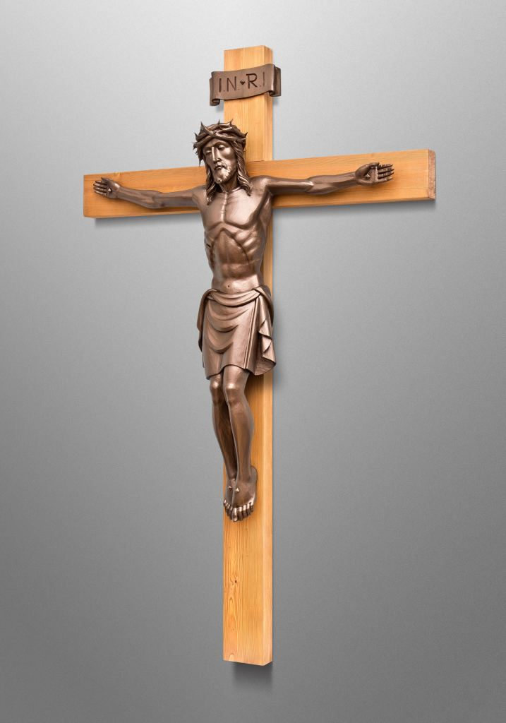 Crucifix for St. Peter college chapel in Grafton, Auckland (New Zealand); Collaboration with Anthem Sacred Furnishings