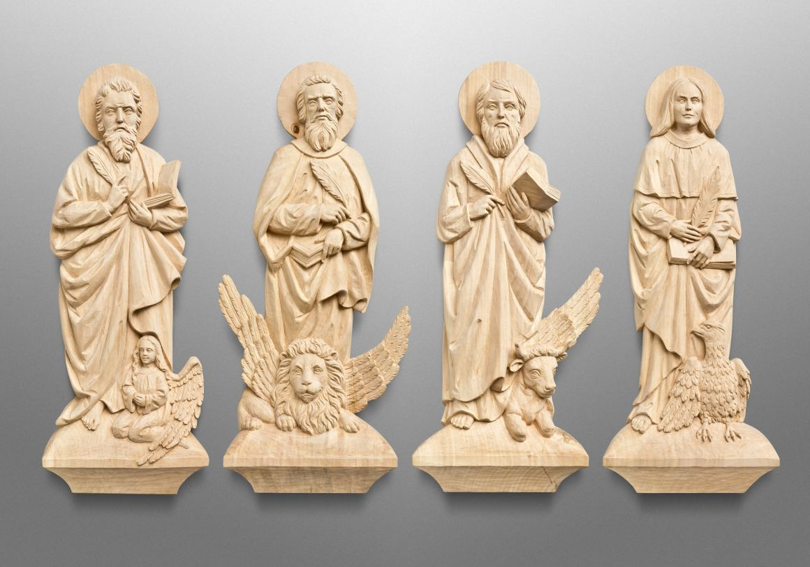 Four Evangelists for Trinity Lutheran Church in Lowell, Indiana (USA)