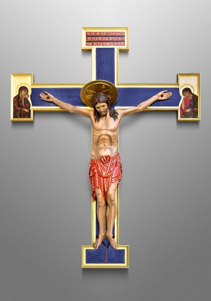 Early Romanesque Crucifix for Church of the Sacred Heart in Owatonna, Minnesota (USA)