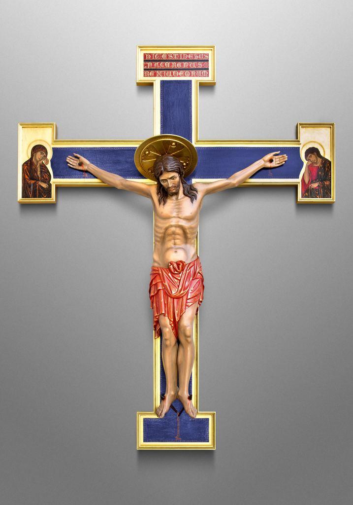 Byzantinisches Kruzifix für Church of the Sacred Heart in Owatonna, Minnesota (USA)