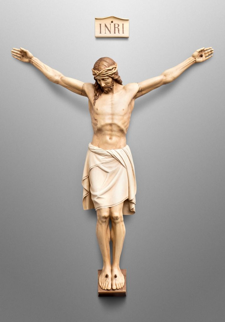 Crucifix for Catholic Church of St. Mary in Melrose, Minnesota (USA); Liturgical consultant: Kenneth J. Griesemer & Associates