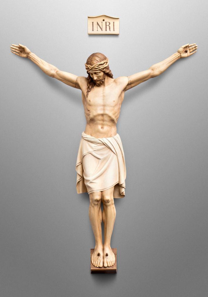 Kruzifix für die katholische Kirche St. Mary in Melrose, Minnesota (USA)