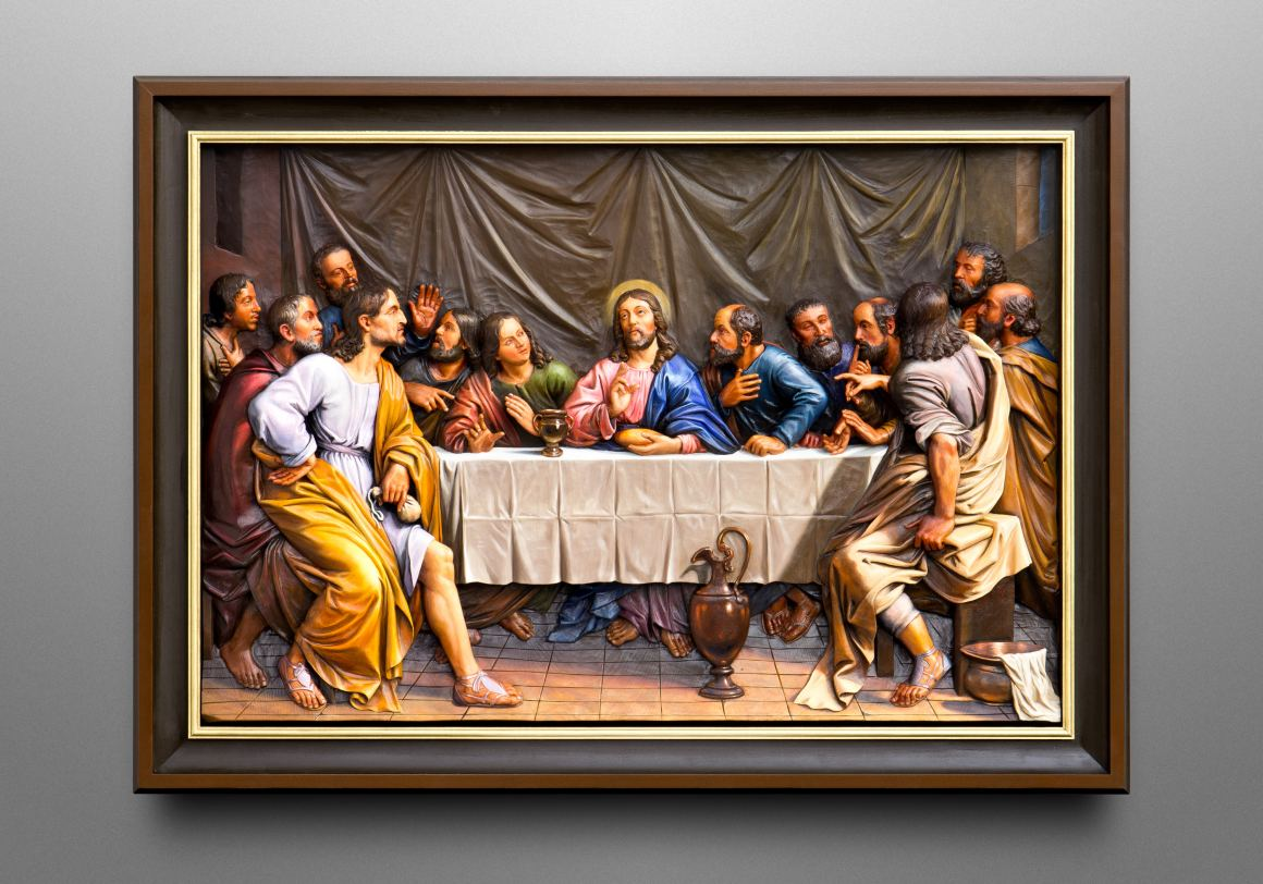 Last Supper, inspired by the famous baroque painting by Philippe de Champaigne