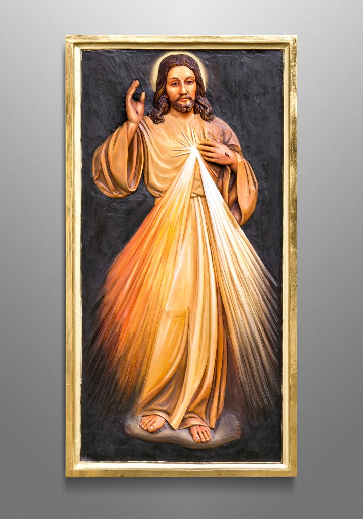 Divine Mercy, inspired by the famous painting by Saint Faustina Kowalska