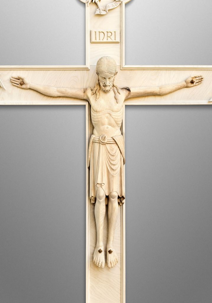 Late Romanesque Crucifix with Four Evangelists symbols