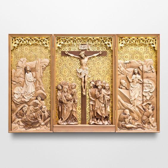 Triptych altar according to Tilman Riemenschneider - Gold Edition