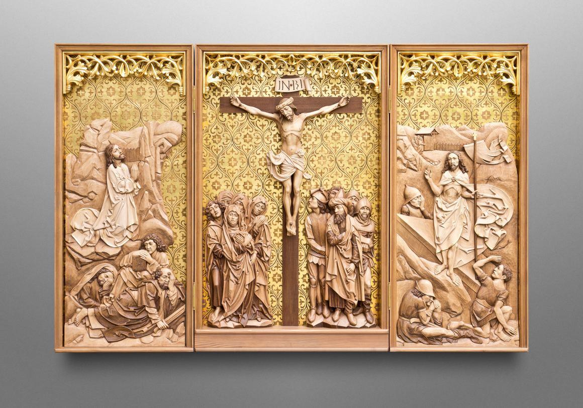 Holy Cross Triptych (inspired by famous gothic sculptor Tilman Riemenschneider)
