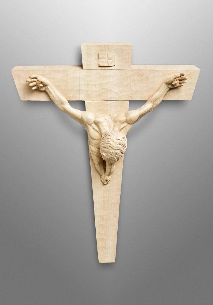 "Kruzifix, inspiriert vom berühmten Gemälde ""Christ of Saint John of the Cross"" von Salvador Dalí"
