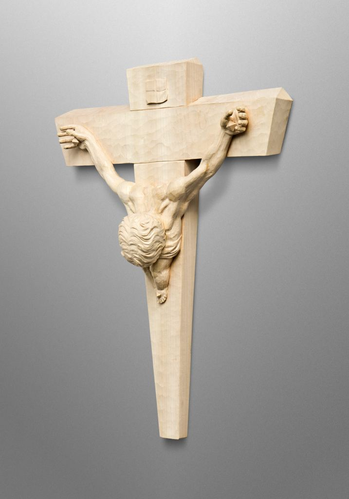 "Crucifix, inspired by the famous painting ""Christ of Saint John of the Cross"" by Salvador Dalí"