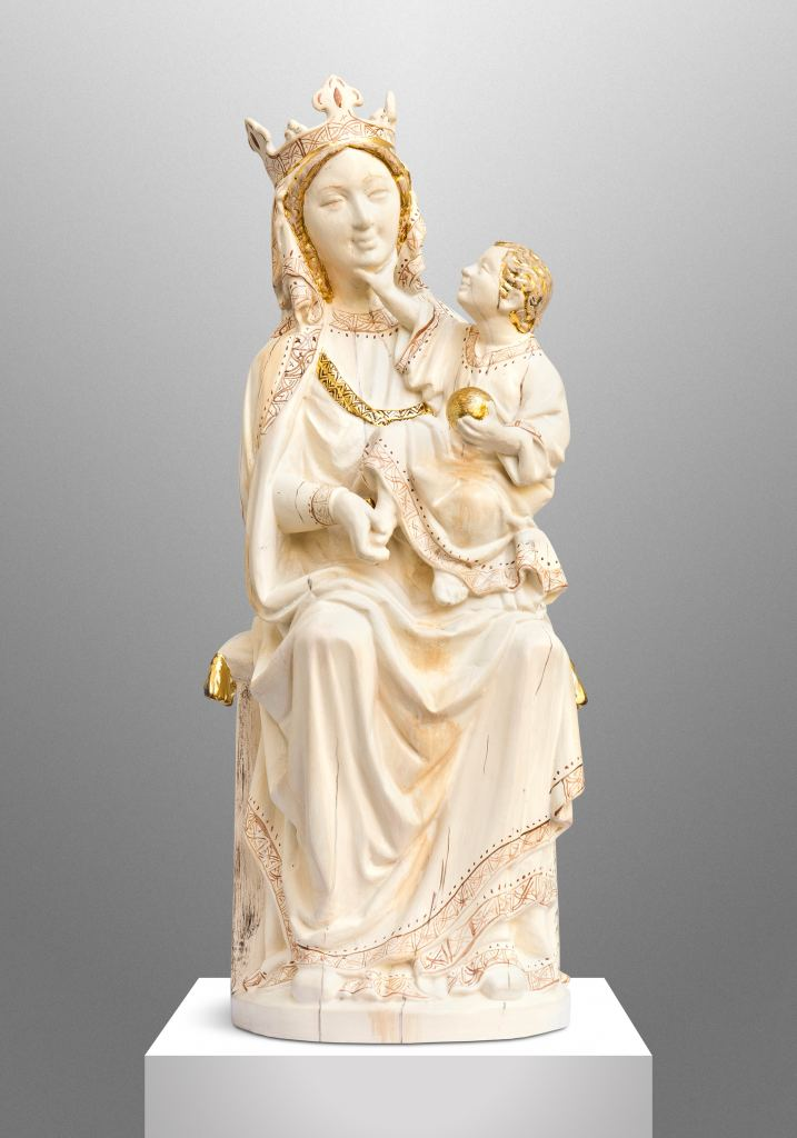 Enthroned Virgin and Child (Copy of a 13th century ivory carving)