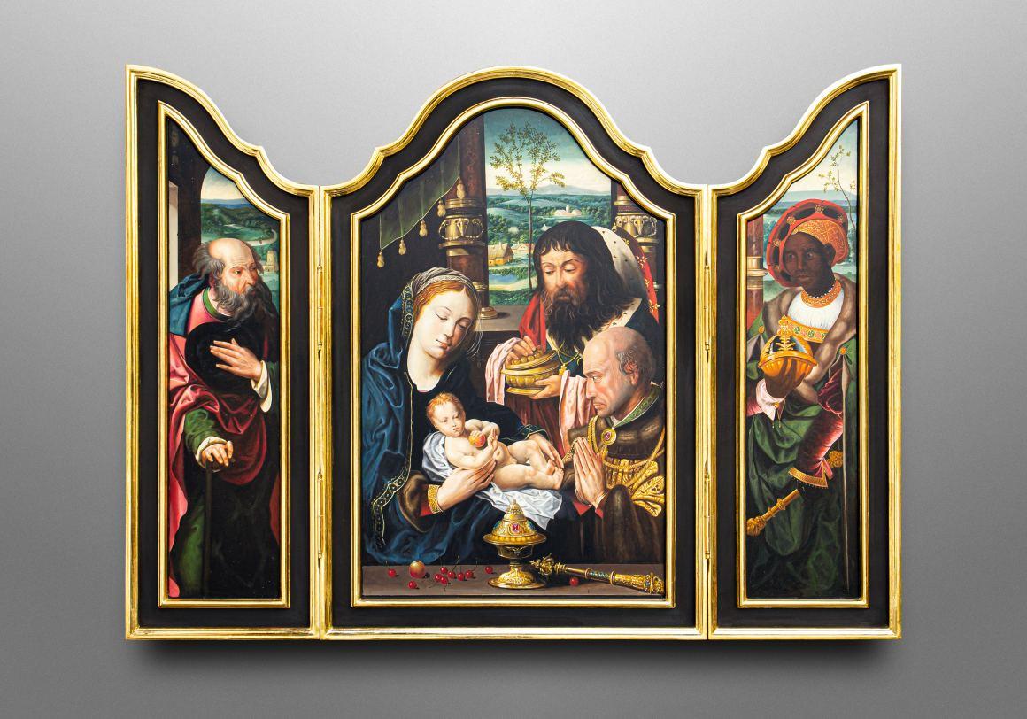 Flügelaltar mit der Verehrung der heiligen drei Könige