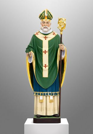 Hand carved statue of St. Patrick for a private Chapel