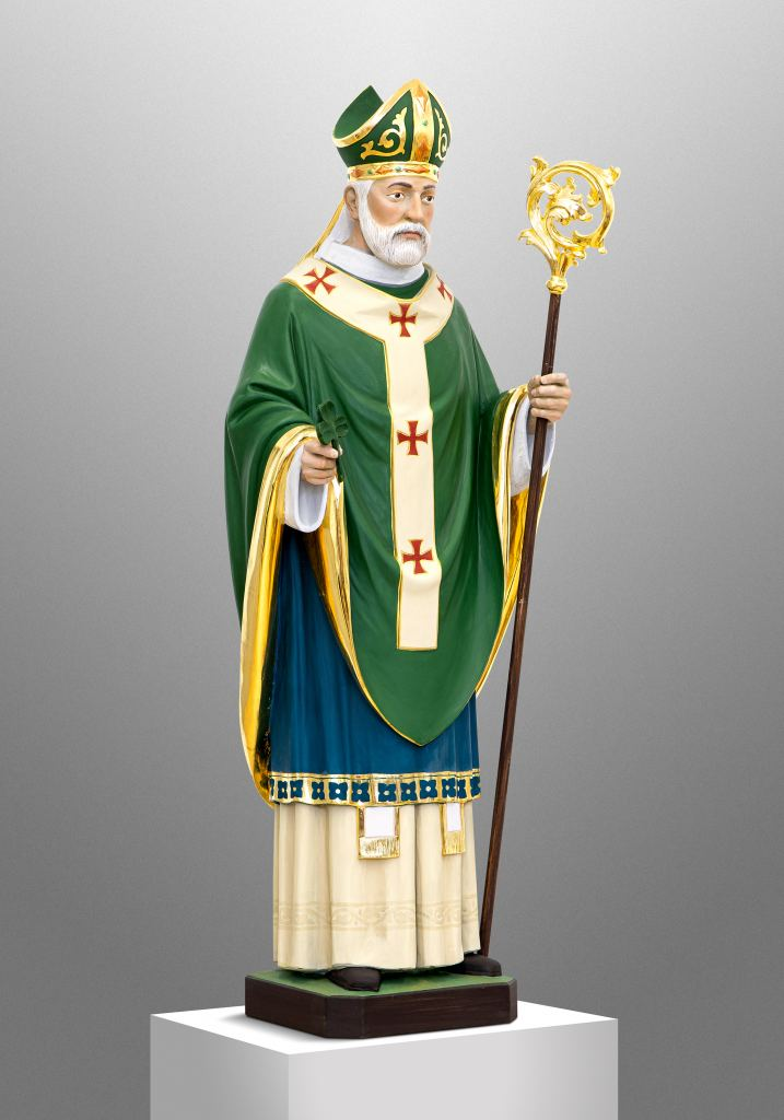 St. Patrick for a private Chapel in Nebraska, USA; Collaboration with Anthem Sacred Furnishings