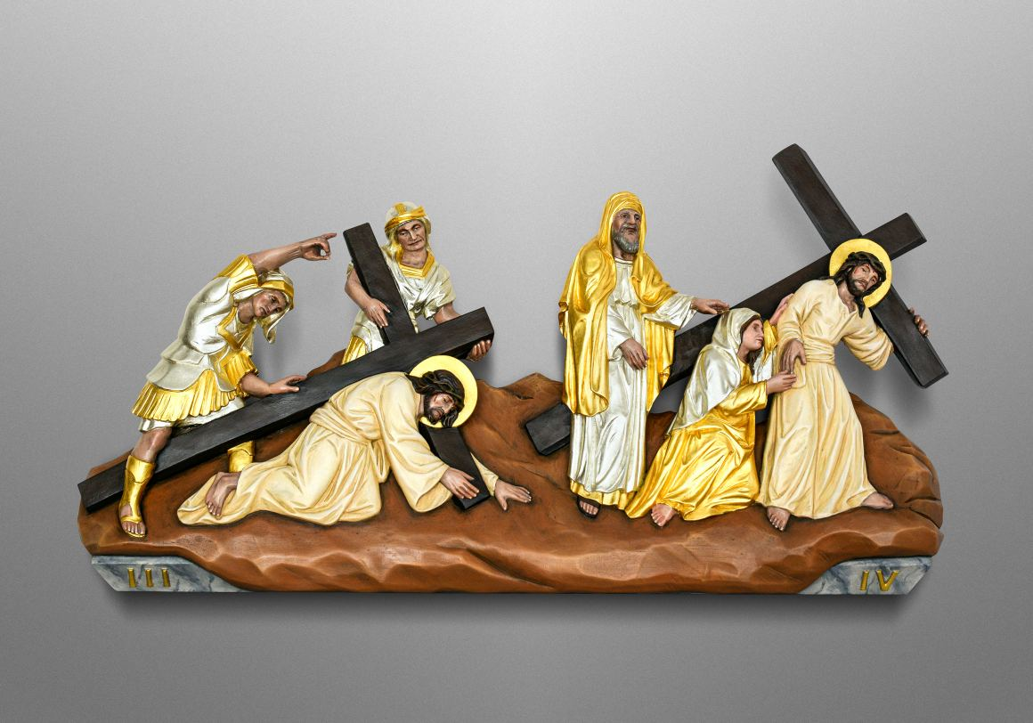 Stations of the Cross for Assumption of Mary Catholic Church in Innsbruck-Amras, Austria